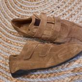 Натуральный замш снаружи,кожа внутри. Туфли кеды мокасины ботинки на низком ходу, 24,5