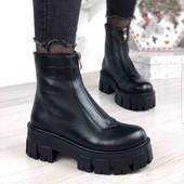 акция! натуральная кожа! зимние ботинки,люкс качество