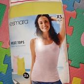 Esmara 2 майки в рубчик евро XS,замеры