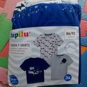 Lupilu набор 3 футболки 86-92