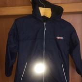 Куртка, термо ветровка, внутри флис, р. 6-7 лет 116-122 см, Sport technicalwear. состояние хорошее