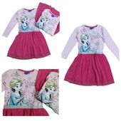 """Новинка! Супер красивое платье """"Анна и Эльза"""" для девочки! 100% хлопок. Размер 5-6 лет"""