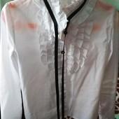 Школьная блузка рубашка 134р, sweet school