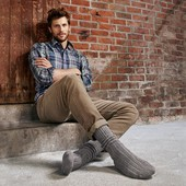 ☘ Лот 1 пара☘ Шкарпетки в'язані теплі, Tchibo (Німеччина), розміри наші: 41-44