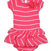 Милейший комплект:платьице+трусики,на малышку 6-12 мес.