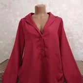 Блуза женская в классическом стиле, размер л-хл