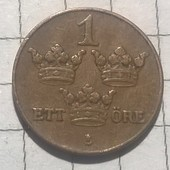 Монета Швеции 1 эре 1931