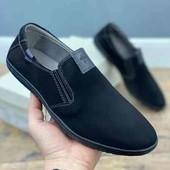 Стильные Мужские туфли. искусственный нубук.
