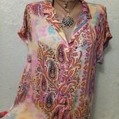 Шикарная нарядная яркая легенькая рубашка р.10 Новая Акция читайте