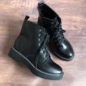 Ботинки на шнуровке 24,5 по стельке