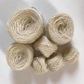 Нитки. Пряжа для вязания. Шерсть б/у. Лот 194 грамма