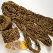 Нитки. Пряжа для вязания. Ковровая нить (полушерстянная), Лентварская ковровая фабрика. 374 грамма