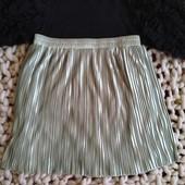 Серебристая юбка в складку