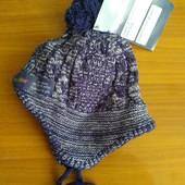 Тёплая вязаная шапочка на микрофлисе Lupilu(Германия), размер 62/68