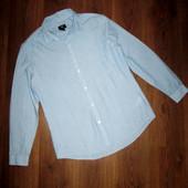 Рубашка мужская, H&M Slim Fit. L-180, грудь 57 см