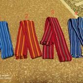 Пояса домотканные под вышиванки. 4 цвета
