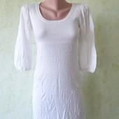 Платье брендовое комбинированное верх в рубчик в очень хорошем состоянии