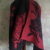 Двусторонний тёплый шарф/палантин