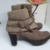 кожанные ботиночки деми 38 р