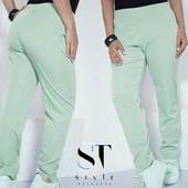 Базовые стильные брюки-фисташка цвет. Качество высокое.