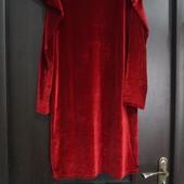 Шикарное бархатное платье с интересными рукавами New look uk14 eur42 Готовимся к празнику) Сост.нов