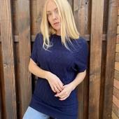 Удлиненный свитерок, размер 46-48, серый.