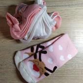 Комплект 4 шт детские носки на девочку + 1 шт утепленные Lupilu Германия размер 19-22