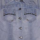 Джинсовая куртка размер S(смотрите замеры)