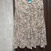 Фирменная новая красивая шифоновая юбка клиньями р.18-20