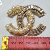 Новая брошь в стиле Шанель, размер 4,5*6 см