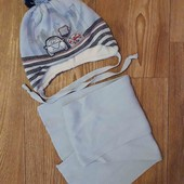 Комплект!шапочка+шарф