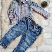 Джинсы +рубашка, состояние отличное