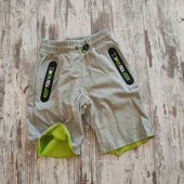 Стильные серо зелёные шорты, 134-140рост.гло стори