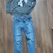 джинсы h&m + свитшот