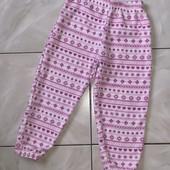 Стоп !❤классные мягкие флисовые штаники для сна и отдыха,3-5 лет❤ Много лотов!