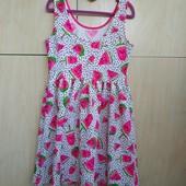 Nut Meg новое 3D платье принт 8-9 лет, ткань не мнётся, собирайте лоты в одну посылку
