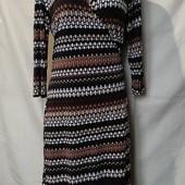Очень классное стрейчевое платье на запах,12р(L)