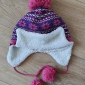 теплая шапка на флисе GeeJаy на 3-5 лет
