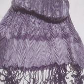 Фиолетовый шарфик. Гофрированный. Не секонд