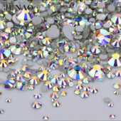 Стразы Crystal АВ - термоклеевые - 1200 шт пачка микс