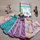 Германия!!! Комплект белья для девочки: 7 шт трусов и 3 шт маек! 98/104!