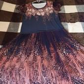 Шикарное дорогое летнее платье. В новом состоянии. На 54-56р.
