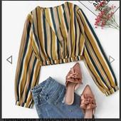 Много лотов! Стильная блуза в полоску, остатки после закрытия магазина
