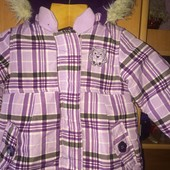 куртка, холодная весна, внутри флис, 1-1,5 года 86 см, Dopodopo. состояние отличное