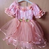 Нарядное платье 3-4года