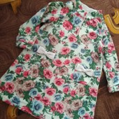 Теплое флисовое платье в хорошем состоянии на 8-9 лет.