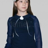 Красивая нарядная блуза для девочки на 7-8 лет смотрим замеры!