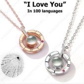 Кулон с проекцией я тебя люблю на 100 языках мира.Цвет: золото или серебро.Лот-один кулон на выбор.