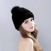Роскошная шапка, натуральный мех.тянется отлично