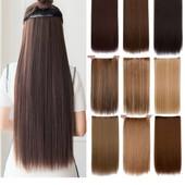 Трессы прямые комплект волосы на клипсах 55см качество бомба!!!!1 на выбор